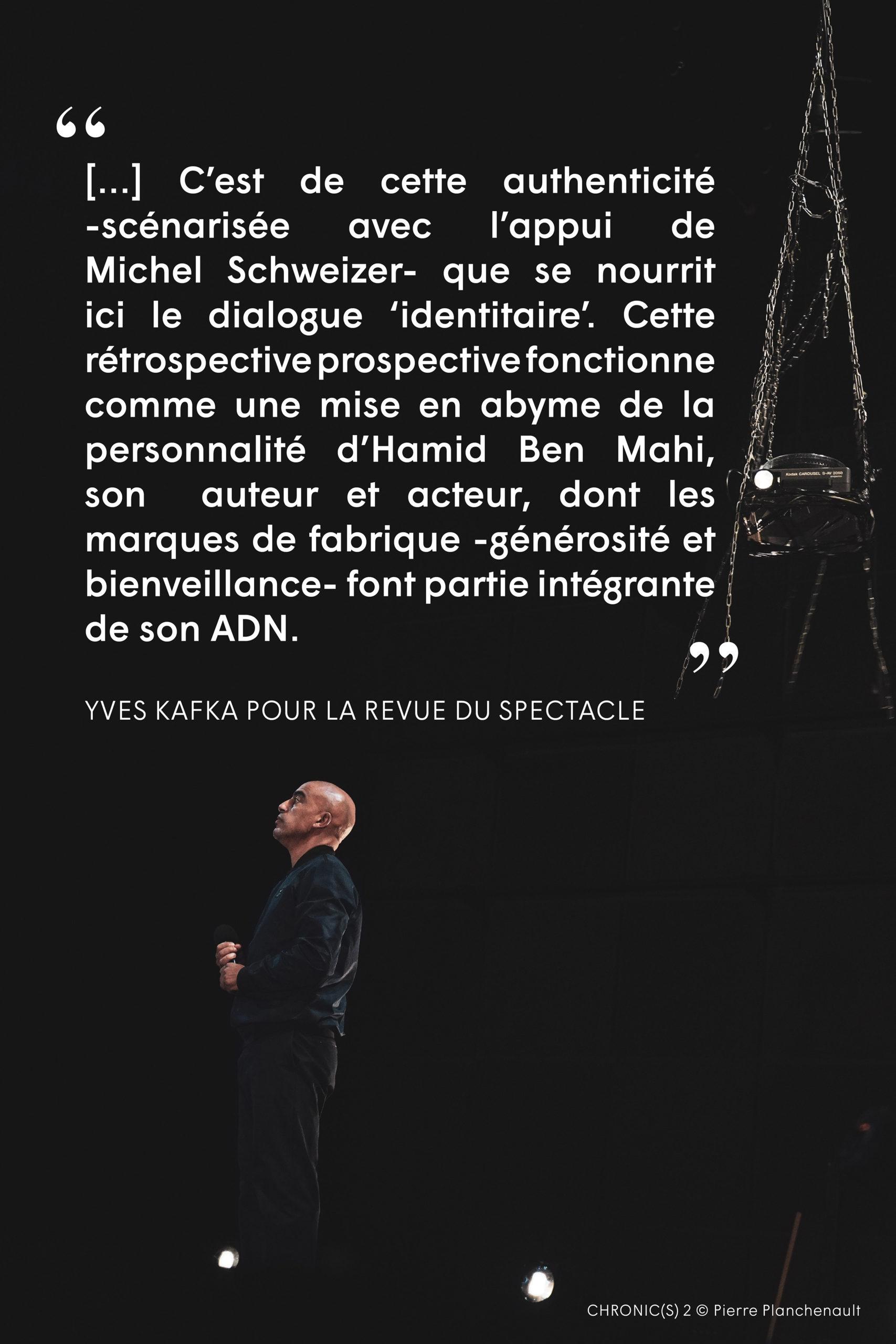 Chronic(s) 2 . Compagnie HOrs Série . Extrait Presse . La Revue du Spectacle